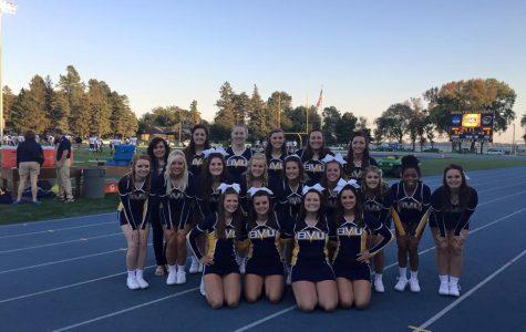 Cheer team takes advantage of open gym