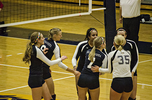 Volleyball season ends with a pair of wins