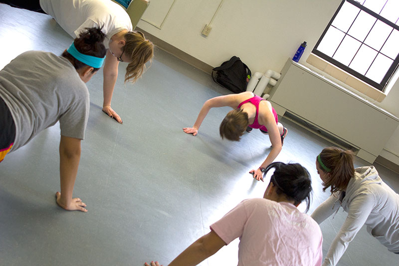 New group fitness classes push students to the max