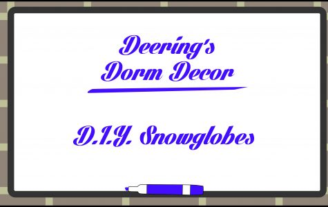 Deering's Dorm Decor: DIY Snowglobes