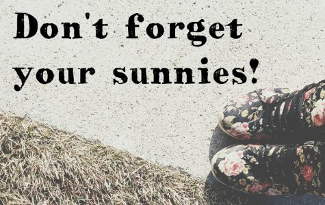 Don't forget your sunnies!