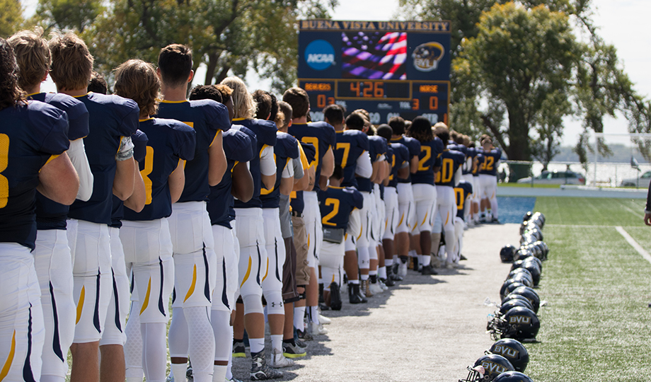 "President issues statement focused on ""moving forward"" after kneeling protest"