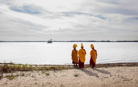 Monks Create Intricate Sand Mandala in BVU Art Gallery