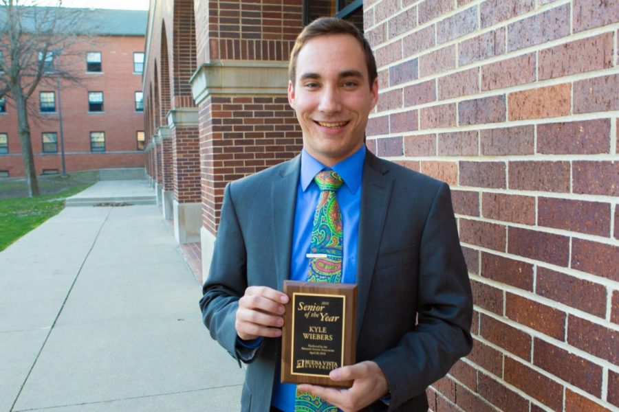 Wiebers Recognized as Senior of the Year at Student Recognition Dinner