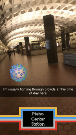 Snapchat of Empty Metro Station