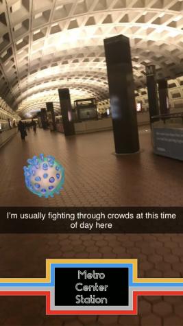 Snapchat of Empty Metro Station
