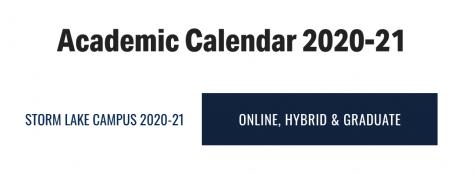 Academic Calendar Changes