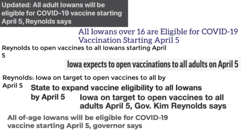 COVID-19 Vaccines Available for Iowans