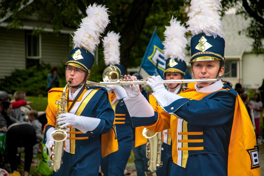 Even after the limitations Covid-19 brought last year, the Marching Blue has emerged through the fog as a resilient group once again entering the public eye.