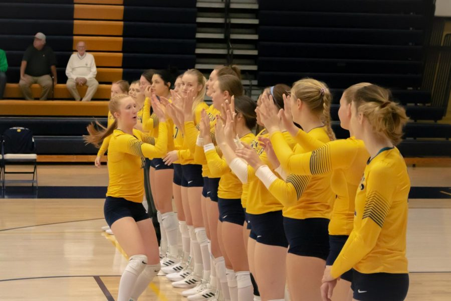 I love the community and the people here... It really has provided me with a second home. All the girls on my team are like family to me so its important to me that when we play, that we play for each other. The culture and the chemistry we have is something I really like being a part of, - Taylor Wedemeyer, Junior.